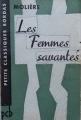 Couverture Les Femmes savantes Editions Bordas (Petits Classiques) 1963