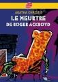 Couverture Le meurtre de Roger Ackroyd Editions Le livre de poche (Jeunesse) 2007