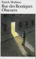 Couverture Rue des boutiques obscures Editions Folio  2004