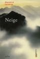 Couverture Neige Editions Arléa 1999