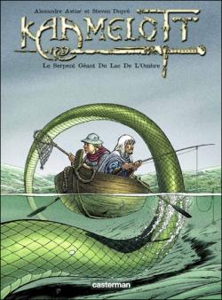 Couverture Kaamelott (BD), tome 5 : Le serpent géant du lac de l'ombre