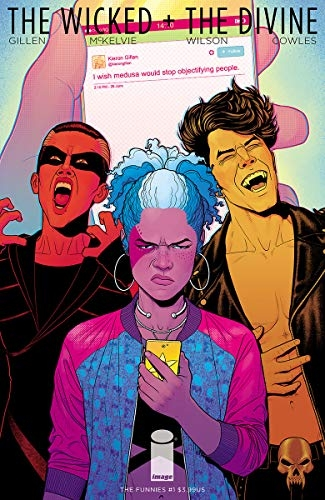 Couverture The Wicked + The Divine: The Funnies