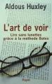 Couverture L'art de voir Editions Payot 2004