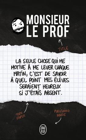 Couverture Monsieur Le Prof