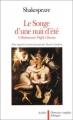 Couverture Le songe d'une nuit d'été Editions Aubier Flammarion (Domaine anglais bilingue) 1992