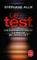 Couverture Le test Editions Le Livre de Poche 2018