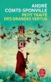 Couverture Petit traité des grandes vertus Editions Le Livre de Poche 2018