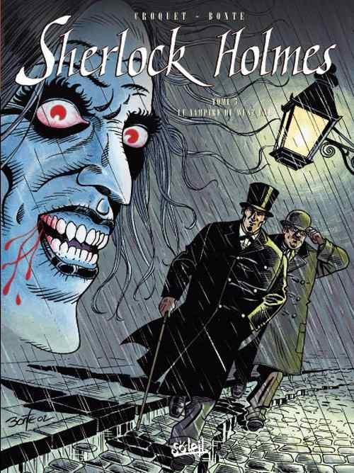 Couverture Sherlock Holmes (Soleil), tome 5 : Le Vampire du West End