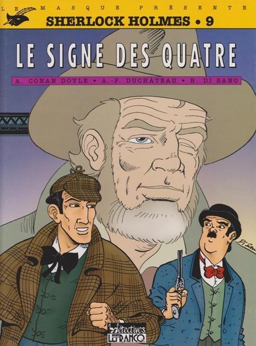Couverture Sherlock Holmes (B.Détectives), tome 9 : Le signe des quatre