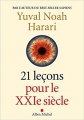 Couverture 21 leçons pour le XXIe siecle Editions Albin Michel 2018