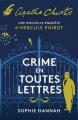 Couverture Crime en toutes lettres Editions Le Masque 2018
