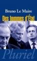 Couverture Des hommes d'État Editions Grasset 2007