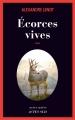 Couverture Ecorces vives Editions Actes Sud (Actes noirs) 2018