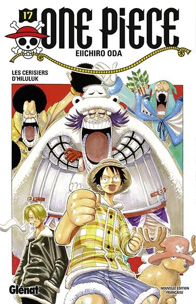 Couverture One Piece, tome 17 : Les cerisiers de Hiluluk