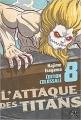 Couverture L'Attaque des Titans, triple, tome 08 Editions Pika (Seinen) 2018