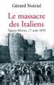 Couverture Le Massacre des Italiens Editions Fayard 2010