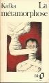 Couverture La métamorphose Editions Folio  1973