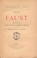 Couverture Faust Editions Flammarion 1926