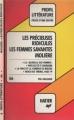Couverture Les Précieuses ridicules, Les Femmes savantes Editions Hatier (Profil) 1988