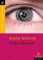 Couverture Acide sulfurique Editions Magnard (Classiques & Contemporains) 2016