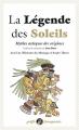 Couverture La légende des soleils : mythes azthèques des origines Editions Anacharsis 2018