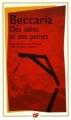 Couverture Des délits et des peines Editions Flammarion (GF) 1991