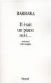 Couverture Il était un piano noir Editions Fayard 1998