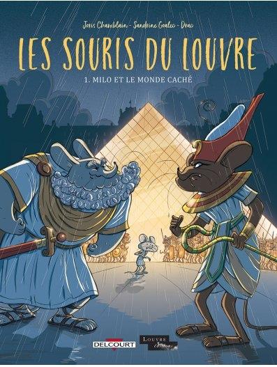 Couverture Les souris du Louvre, tome 1 : Milo et le monde caché