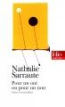 Couverture Pour un oui ou pour un non Editions Folio  (Théâtre) 2017
