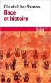 Couverture Race et histoire Editions Folio  (Essais) 1987
