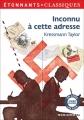 Couverture Inconnu à cette adresse Editions Flammarion (GF - Etonnants classiques) 2012
