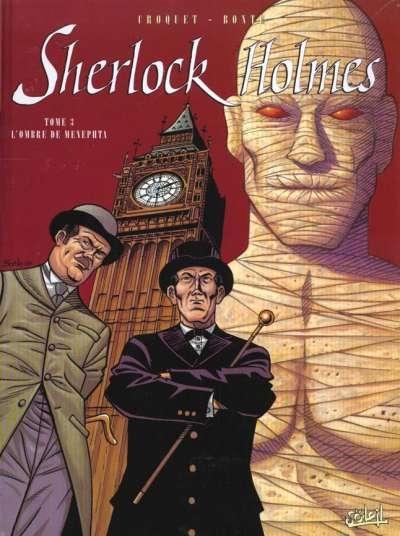 Couverture Sherlock Holmes (Soleil), tome 3 : L'Ombre de Menephta