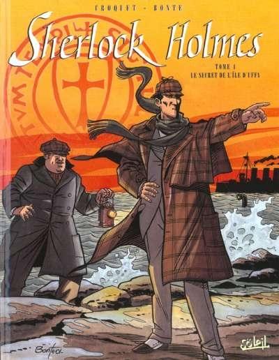 Couverture Sherlock Holmes (Soleil), tome 4 : Le Secret de l'île d'Uffa