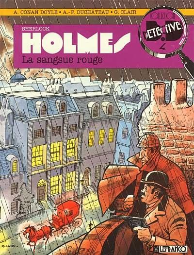 Couverture Sherlock Holmes (B.Détectives), tome 1 : La sangsue rouge
