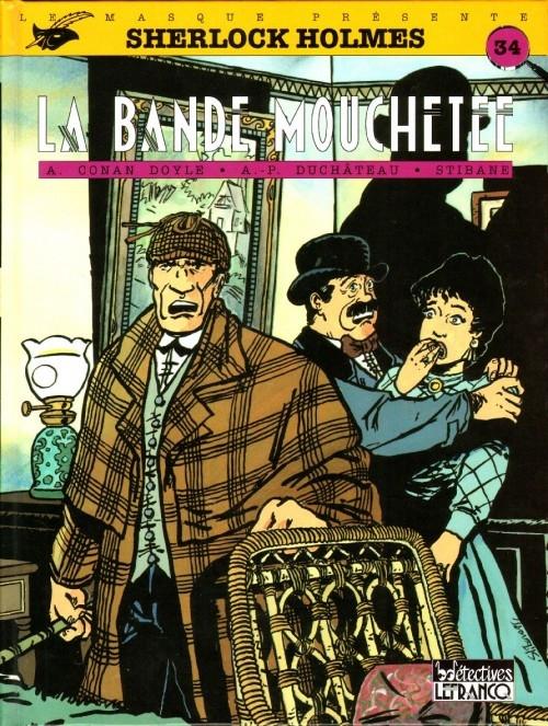 Couverture Sherlock Holmes (B.Détectives), tome 5 : La bande mouchetée