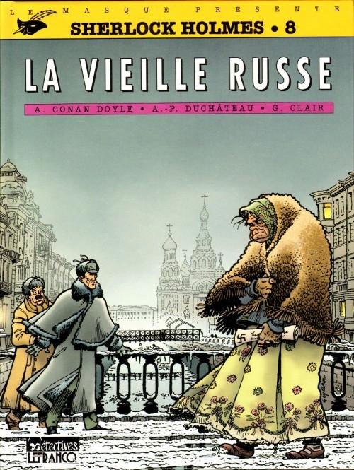 Couverture Sherlock Holmes (B.Détectives), tome 8 : La vieille Russe
