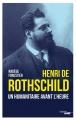 Couverture Henri de Rothschild Editions Cherche Midi 2018