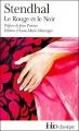 Couverture Le Rouge et le Noir Editions Folio  (Classique) 2000