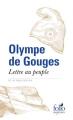 Couverture Lettre au peuple et autres textes Editions Folio  (Sagesses) 2018