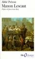Couverture Histoire du chevalier Des Grieux et de Manon Lescaut / Manon Lescaut Editions Folio  (Classique) 1997