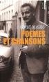 Couverture Poèmes et chansons Editions Points (Virgule) 2001
