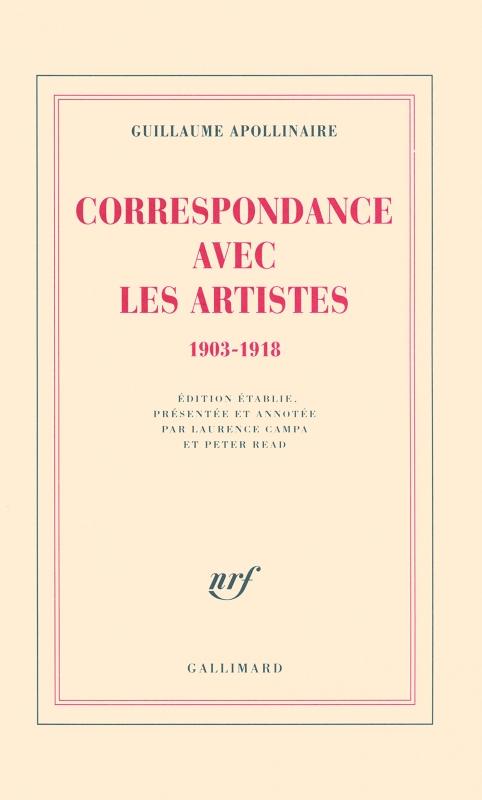 Couverture Correspondances avec les artistes 1903-1918