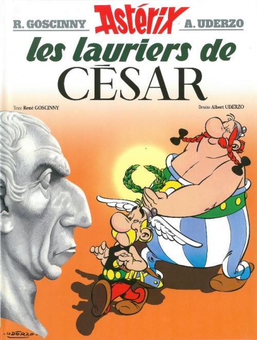 Couverture Astérix, tome 18 : Les lauriers de César