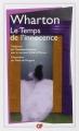 Couverture Le temps de l'innocence / L'âge de l'innocence Editions Flammarion (GF) 2016