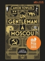 Couverture Un gentleman à Moscou Editions Audiolib 2019