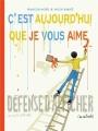 Couverture C'est aujourd'hui que je vous aime (BD) Editions Arenes 2019