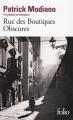 Couverture Rue des boutiques obscures Editions Folio  2016