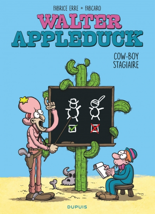 Couverture Walter Appleduck, tome 1 : Cow-boy stagiaire