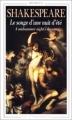 Couverture Le songe d'une nuit d'été Editions Flammarion (GF - Bilingue) 1996