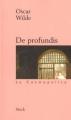 Couverture De Profundis Editions Stock (La Cosmopolite) 2001